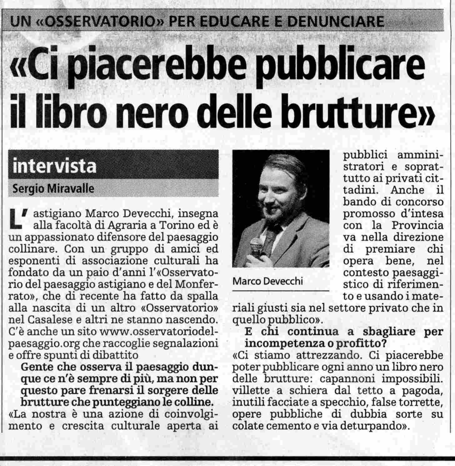 Rassegna stampa la stampa 25 febbraio 2005 for Progettazione paesaggistica